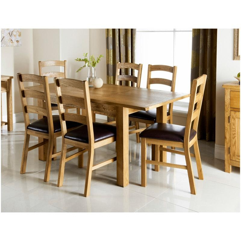 Wiltshire Oak Dining Set 7Pc | Dining Room Furniture – B&m With Regard To Most Popular Cheap Oak Dining Sets (Image 20 of 20)