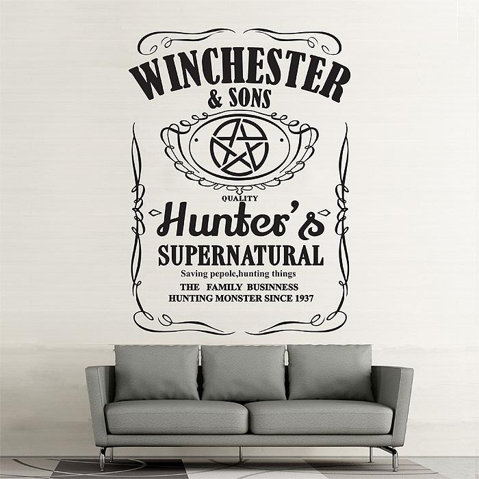 Winchester And Sons Supernatural Vinyl Wall Art Decal Throughout Supernatural Wall Art (Image 20 of 20)