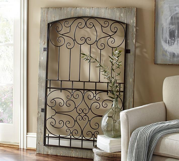 Window Gate | Pottery Barn In Wood And Iron Wall Art (Image 17 of 20)