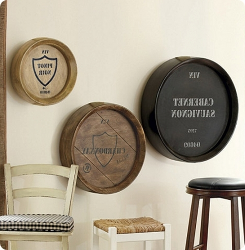 stunning wal decor wine home pier design wall ideas barrel