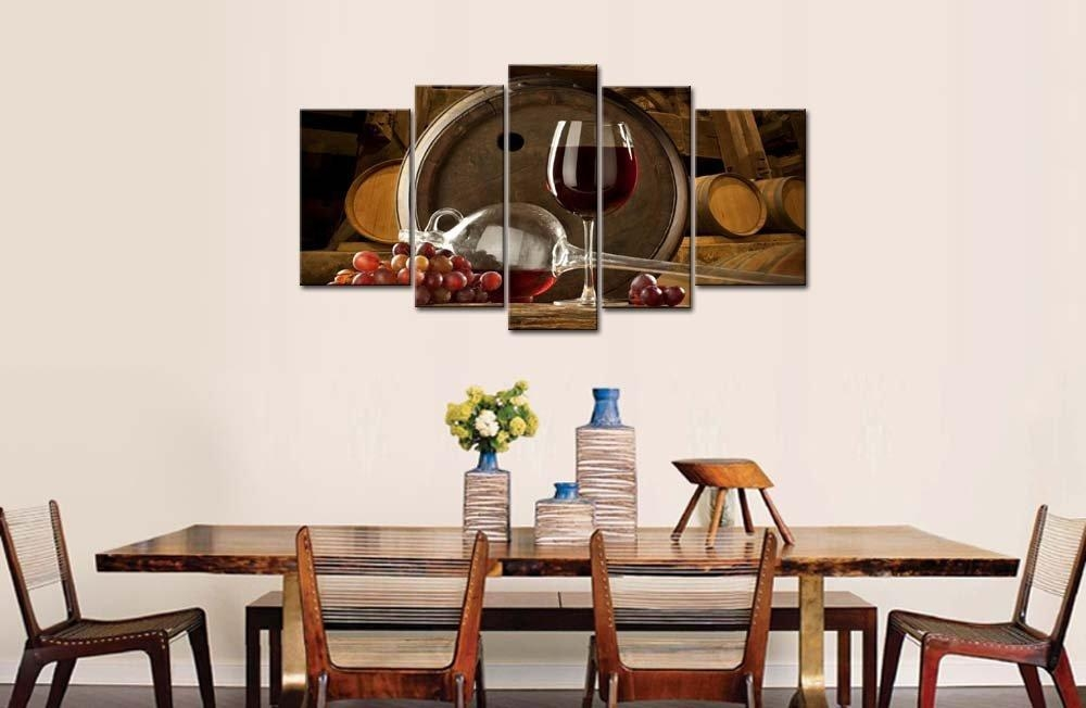 Wine Home Decor & Wine Kitchen Decor Ideas | Decor Snob Throughout Wine And Grape Wall Art (View 3 of 20)