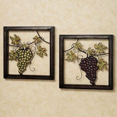 Wine Valley Grapes Metal Wall Art Set–On Touch Of Class Website Regarding Touch Of Class Metal Wall Art (Photo 1 of 20)