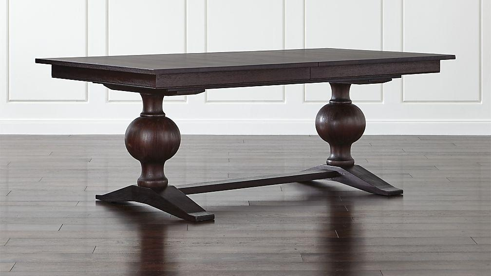 Winnetka Dark Mahogany Rectangular Extendable Dining Table | Crate Regarding Recent Extendable Dining Sets (Image 20 of 20)