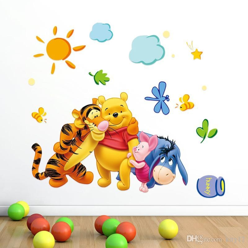 Winnie The Pooh Removable Home Decor Wall Decal Sticker For Kids Pertaining To Winnie The Pooh Wall Decor (Image 15 of 20)