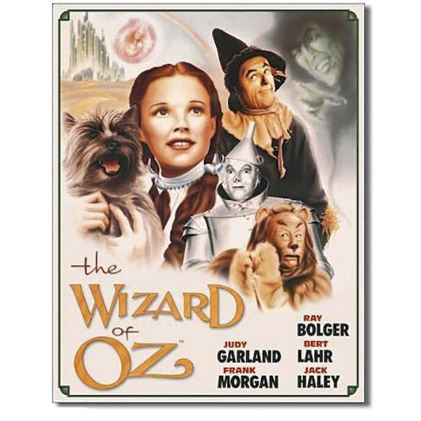 Wizard Of Oz Illustrated Movie Art Tin Sign | Movie Decor Intended For Wizard Of Oz Wall Art (Image 15 of 20)