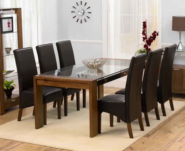 20 photos black glass dining tables 6 chairs dining room for Dining table with 6 chairs cheap