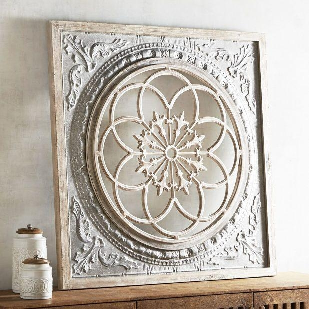 Wonderful Wall Decor White Metal Medallion Wall Art White Metal Pertaining To Metal Medallion Wall Art (View 9 of 20)