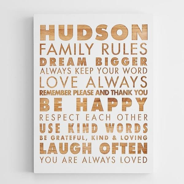 Wonderfull Design Family Rules Wall Art Unbelievable Personalized Throughout Personalized Family Wall Art (Image 20 of 20)