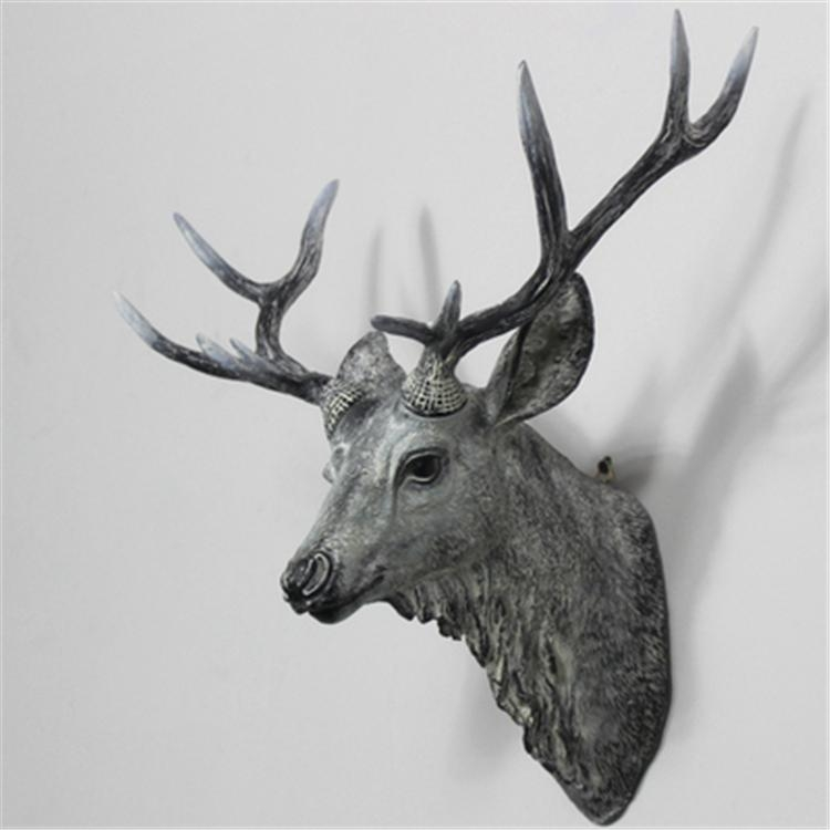 Wonderland Resin Animal Head Creative Craft Wall Art Home Pertaining To Resin Animal Heads Wall Art (Image 18 of 20)