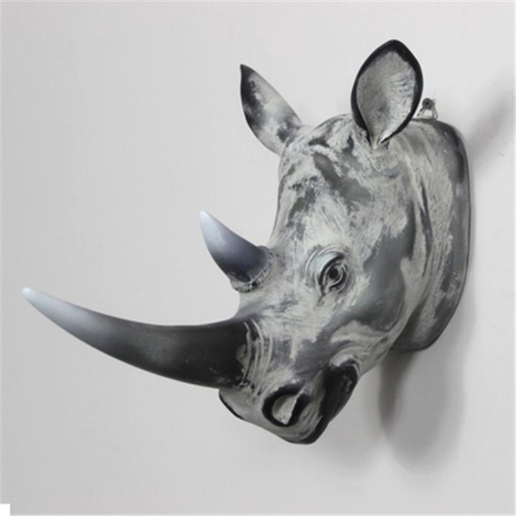 Wonderland Resin Animal Head Creative Craft Wall Art Home Throughout Resin Animal Heads Wall Art (Image 19 of 20)