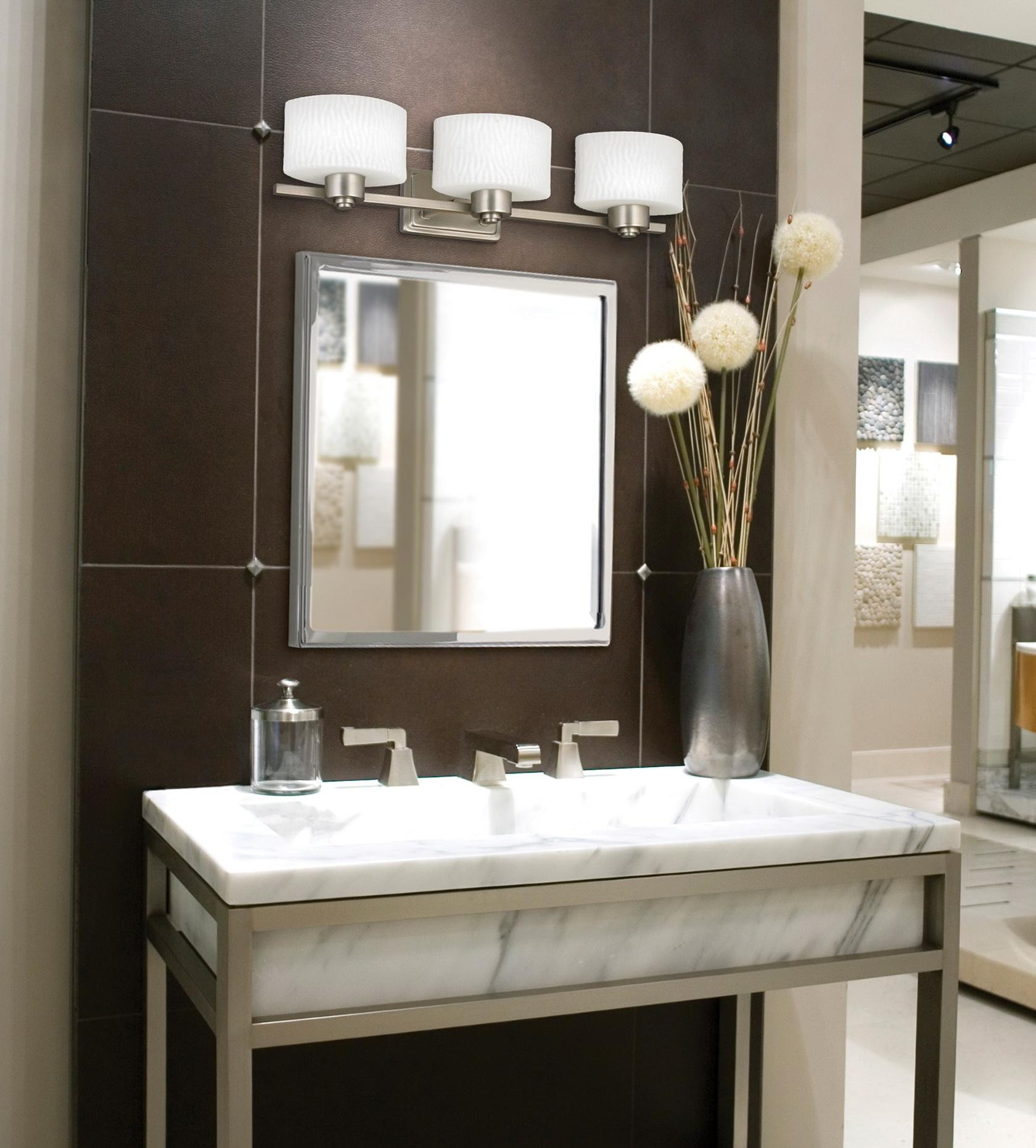 Wondrous Bathroom Vanity Mirrors For Com Ideas Brushed Nickel In Lights For Bathroom Mirrors (View 17 of 20)