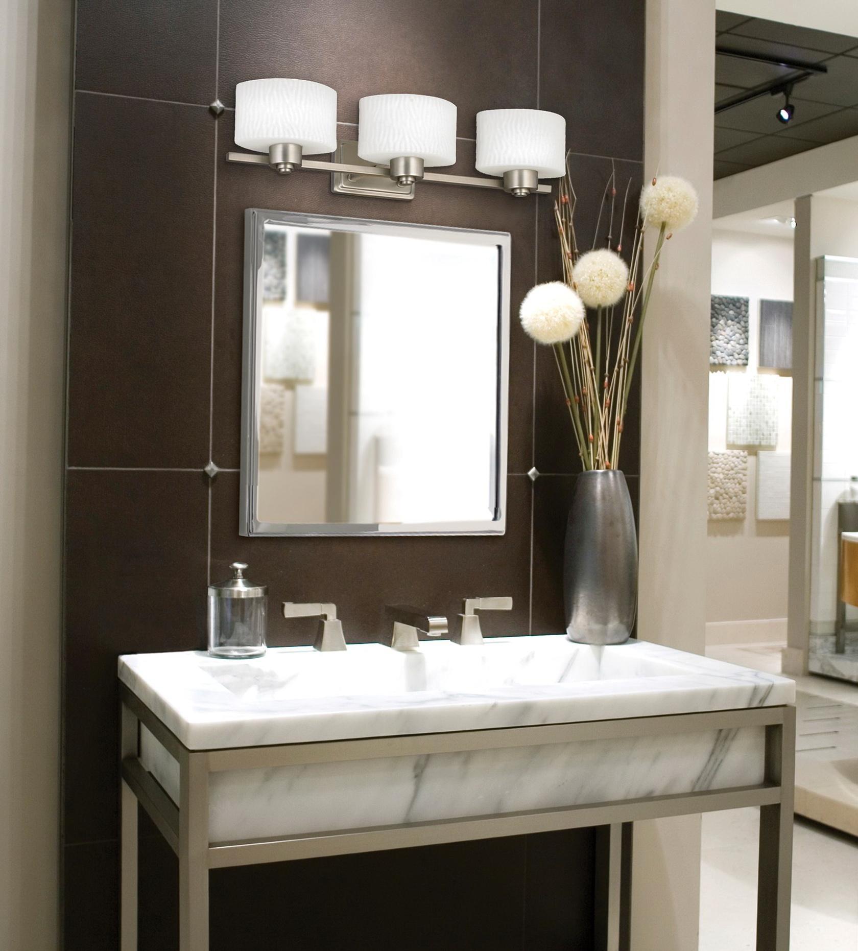 High Quality Wondrous Bathroom Vanity Mirrors For Com Ideas Brushed Nickel Pertaining To Bathroom  Vanity Mirrors (Image