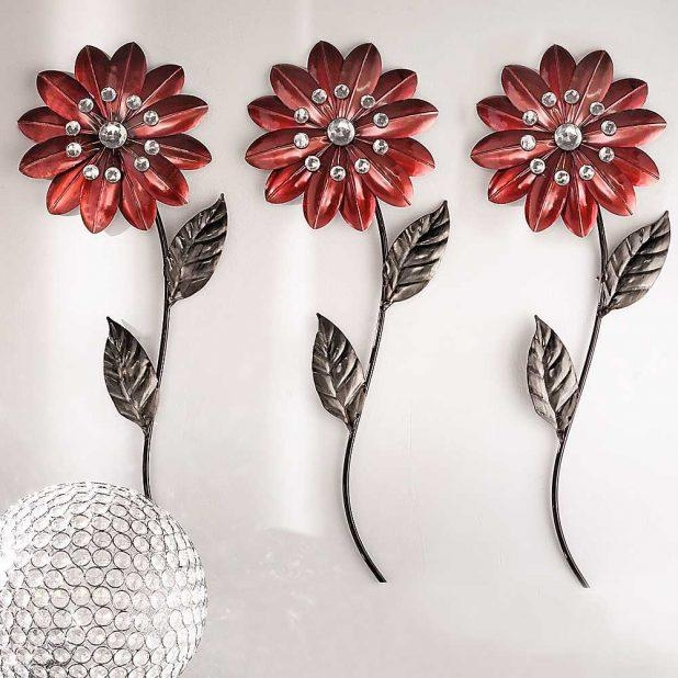 Wondrous Silver Metal Wall Art Flowers Evening Flowers Metal Wall Inside Silver Metal Wall Art Flowers (Image 20 of 20)