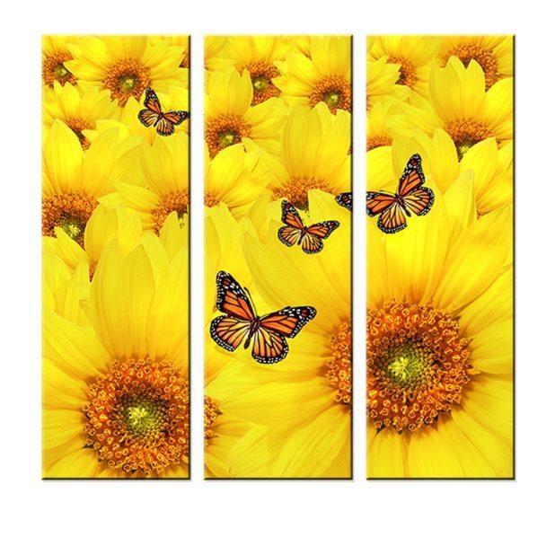 Wondrous Sunflower Wall Art Canvas Hummingbird And Sunflower Metal Within Metal Sunflower Wall Art (View 15 of 20)