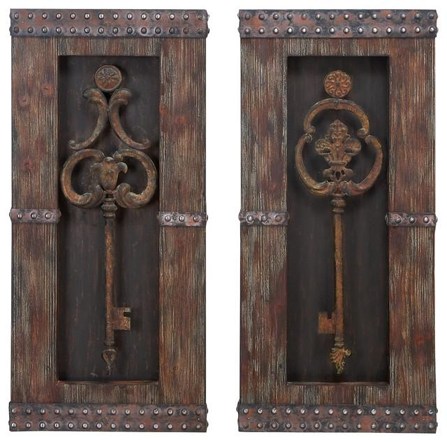 Wood Metal Wall Decor Ultimate Handwork, 2 Piece Set – Traditional Pertaining To Wood And Iron Wall Art (Image 20 of 20)