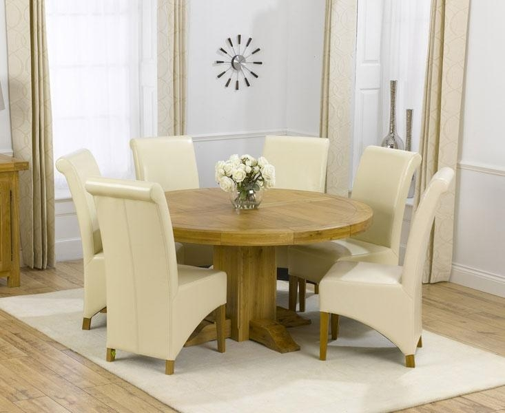 Wood Round Dining Table Set For 6 Ideas Table Ideas Round Kitchen Throughout Most Recently Released Cream Dining Tables And Chairs (View 16 of 20)