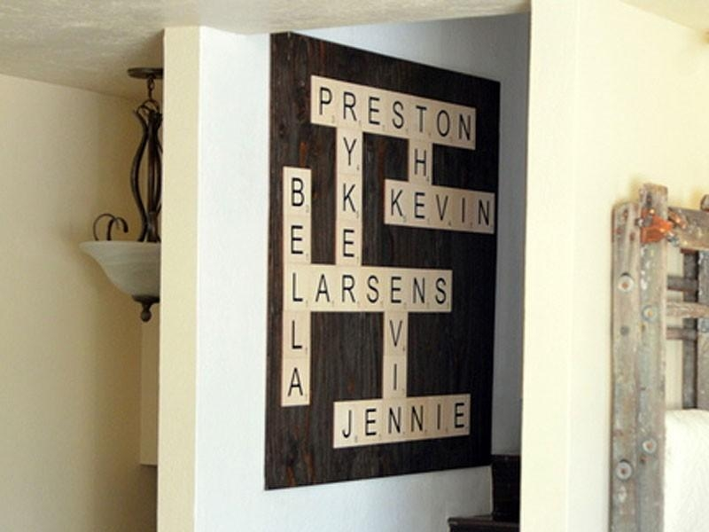 Wood Wall Letter Tiles – Large Letter Tiles | Craftcuts Within Scrabble Letter Wall Art (Image 20 of 20)