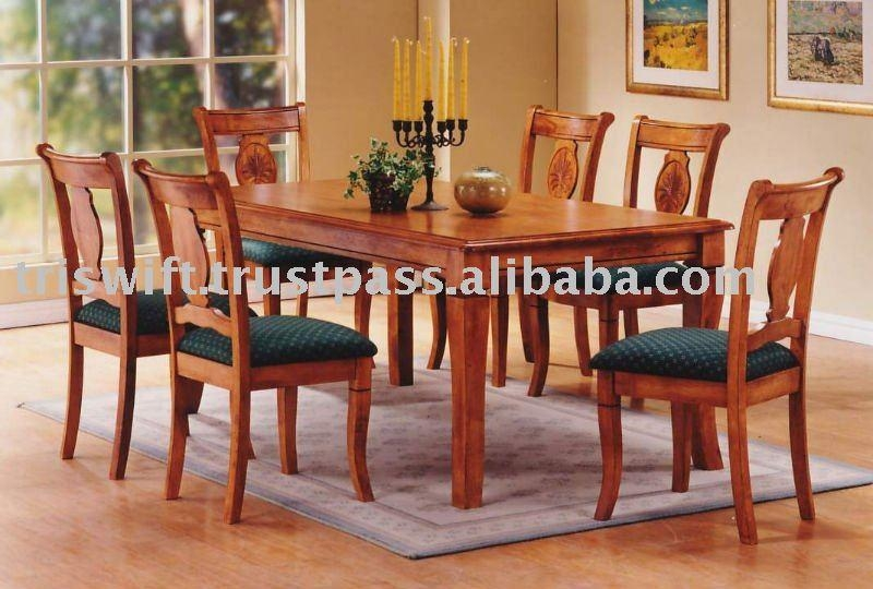 Wooden Dining Set (1+6),classical Wooden Chair,dining Chair,dining Inside Most Up To Date Wooden Dining Sets (Image 17 of 20)