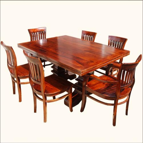 Wooden Dining Sets – Wooden Dining Sets Exporter, Manufacturer Pertaining To Most Up To Date Wooden Dining Sets (View 17 of 20)