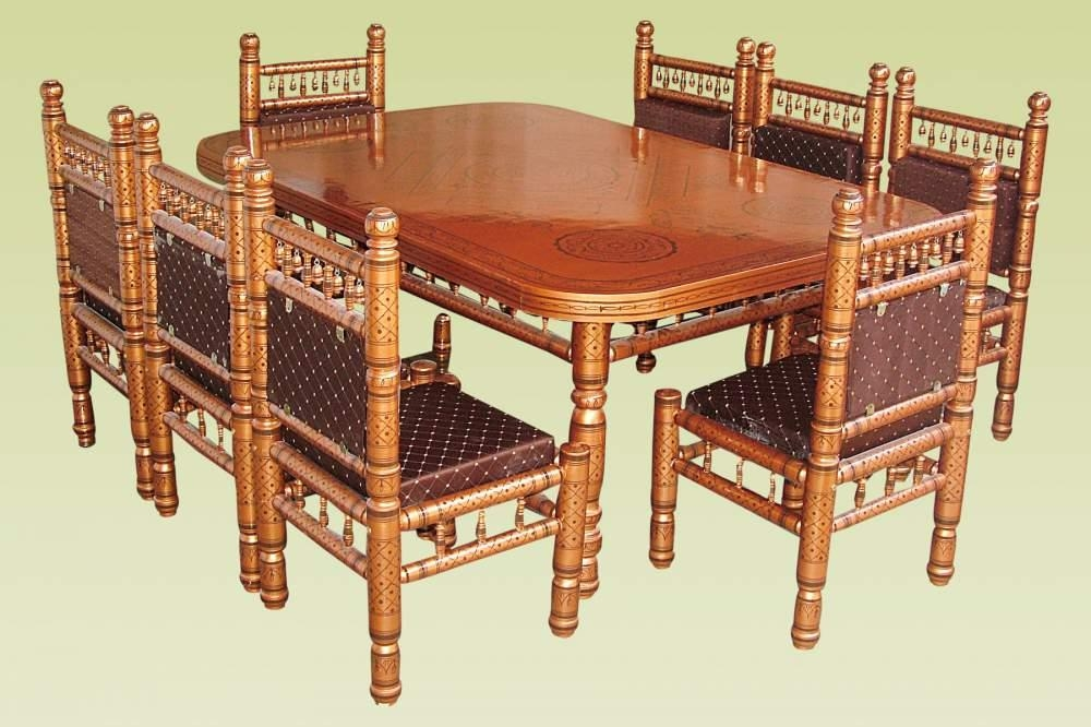 Wooden Dining Table For Sale In Vadodara On English Throughout Current Indian Dining Tables And Chairs (Image 20 of 20)