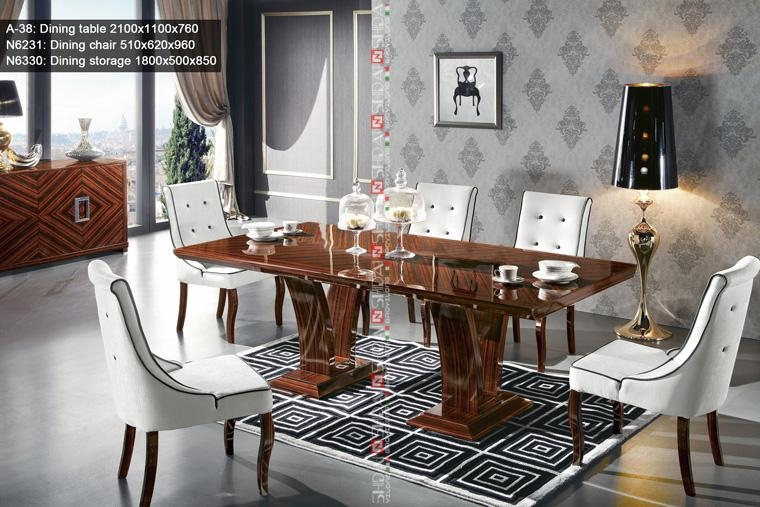 Wooden Dining Table Set,high Gloss Dining Table And Chair,ebony In Gloss Dining Set (Image 20 of 20)