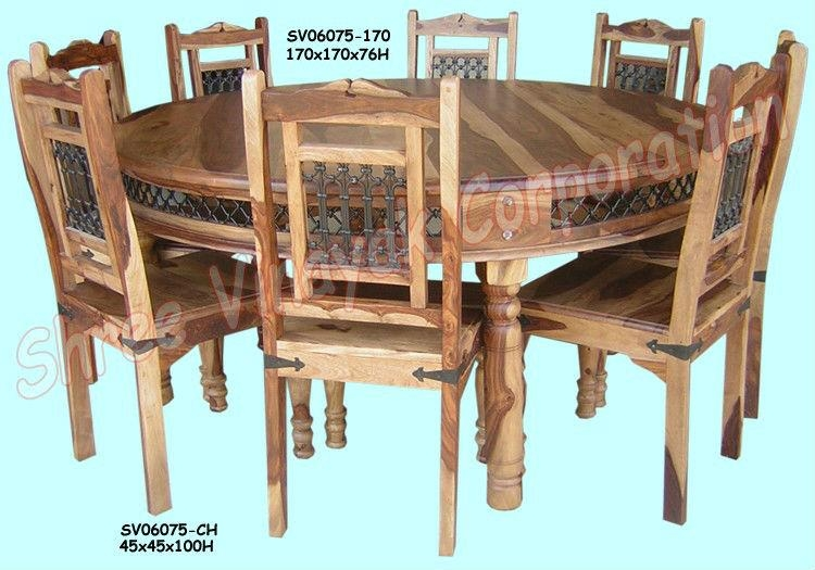 Wooden Dining Table Set,sheesham Wood Furniture – Buy Sheesham For 2017 Sheesham Dining Chairs (View 16 of 20)