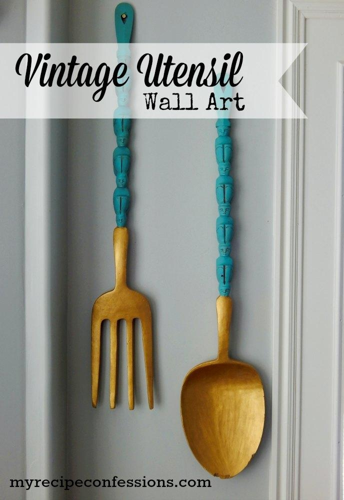Wooden Kitchen Utensil Wall Art – My Recipe Confessions For Utensil Wall Art (Image 20 of 20)