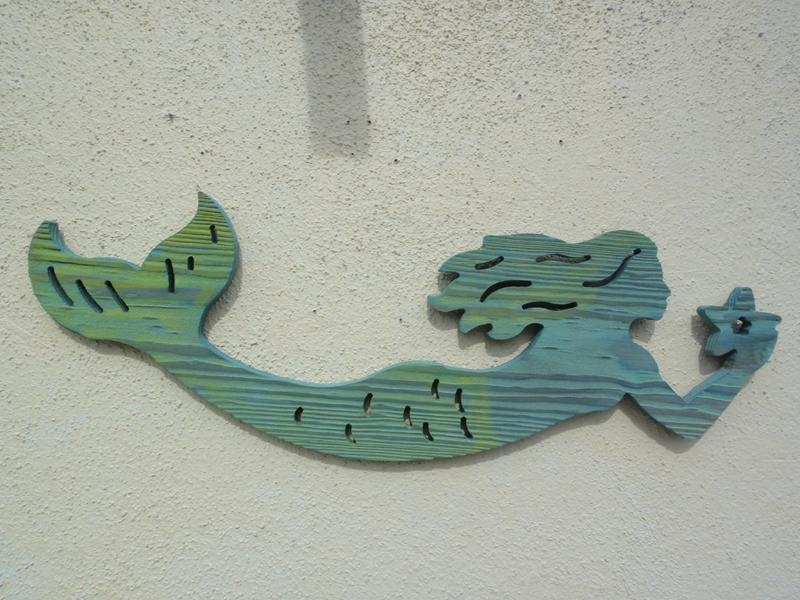 Wooden Mermaid Wall Hanging | Lv Designs Throughout Mermaid Wood Wall Art (View 15 of 20)