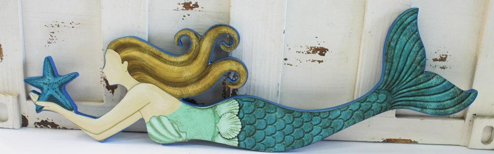Featured Image of Wooden Mermaid Wall Art
