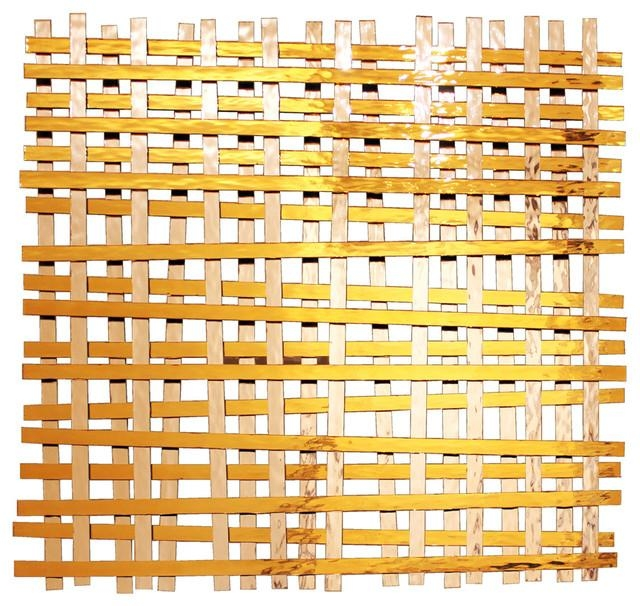 Woven' Glass And Metal Wall Sculpture – Contemporary – Metal Wall In Woven Metal Wall Art (Image 20 of 20)