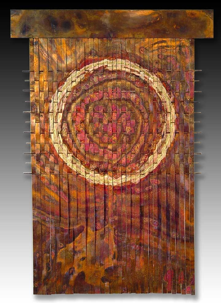 Woven Metal Wall Art > Waterfalls & Triangles > Woven Metal Art Wall With Regard To Woven Metal Wall Art (Image 19 of 20)