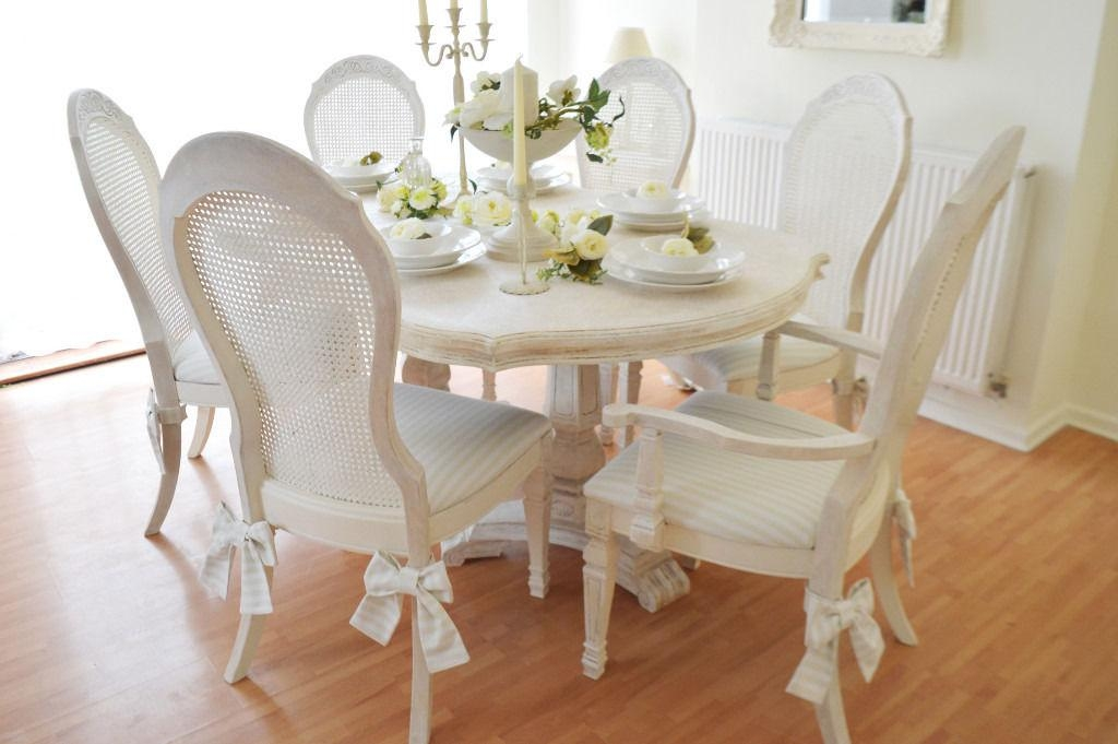 Wow *** !!! Sale !!! Unique !!! French Antique Shabby Chic Dining Inside Latest Shabby Chic Dining Chairs (View 10 of 20)
