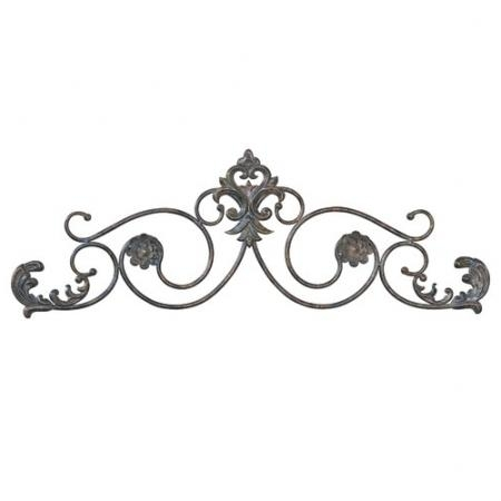 Wrought Iron Metal Wall Art – Makipera With Incredible Iron Scroll Intended For Iron Scroll Wall Art (View 6 of 20)