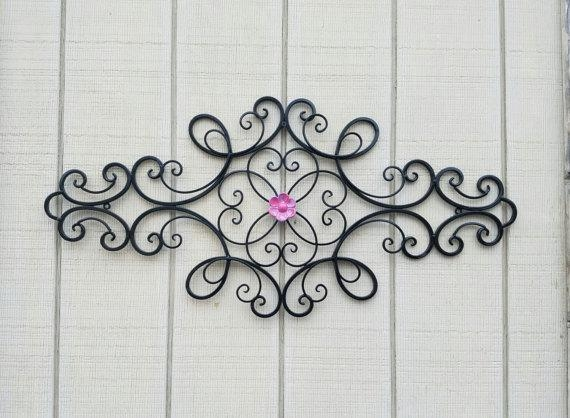 Wrought Iron Wall Art / Metal Wall Art / Large Metal Wall Art Throughout Large Wrought Iron Wall Art (View 11 of 20)