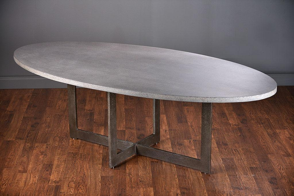 Xander Oval Lava Stone Dining Table – Mecox Gardens With Newest Stone Dining Tables (Image 20 of 20)