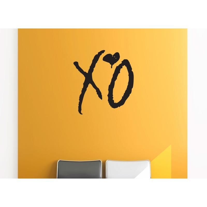 Xo Love Kiss Hug Removable Wall Art The Weeknd Hip Hop Decal Vinyl For The Weeknd Wall Art (Image 20 of 20)