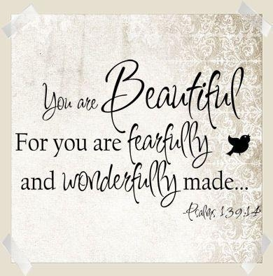 You Are Beautiful For You Are Fearfully And Wonderfully Made Wall Pertaining To Fearfully And Wonderfully Made Wall Art (View 11 of 20)