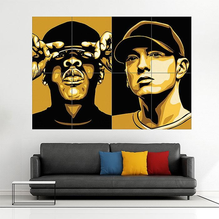 Z And Eminem Block Giant Wall Art Poster Inside Eminem Wall Art (View 8 of 20)