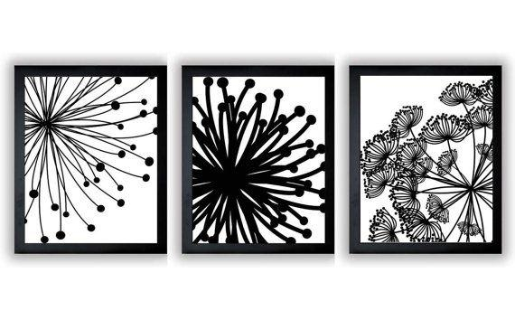 Zspmed Of Black And White Wall Decor Perfect For Home Decoration Inside Black And White Bathroom Wall Art (View 14 of 20)