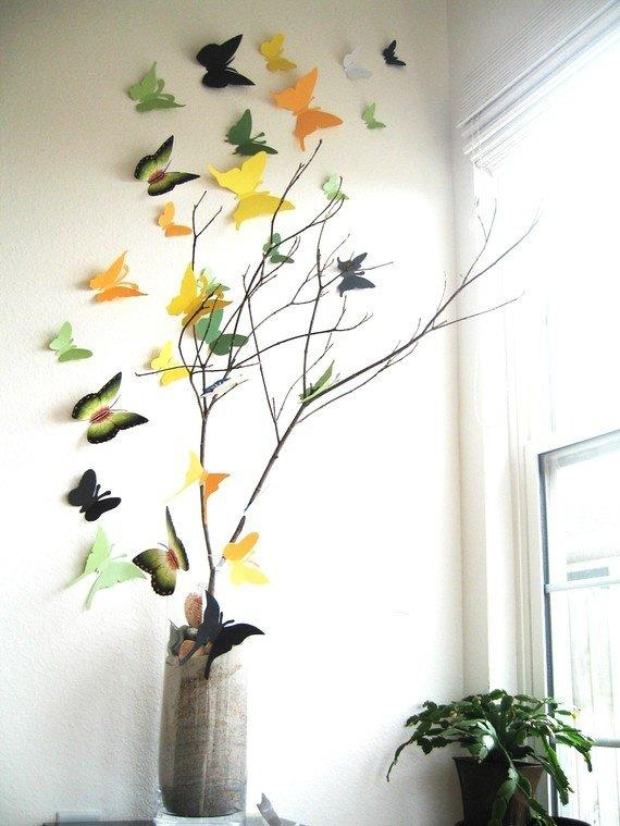 10 Diy Butterfly Wall Decor Ideas With Directions – A Diy Projects In Diy 3D Butterfly Wall Art (Image 1 of 20)