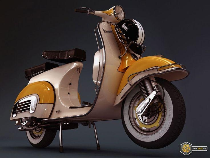 102 Best • Vespa • Images On Pinterest | Vespa Scooters, Vespa And Intended For Vespa 3D Wall Art (Image 1 of 20)