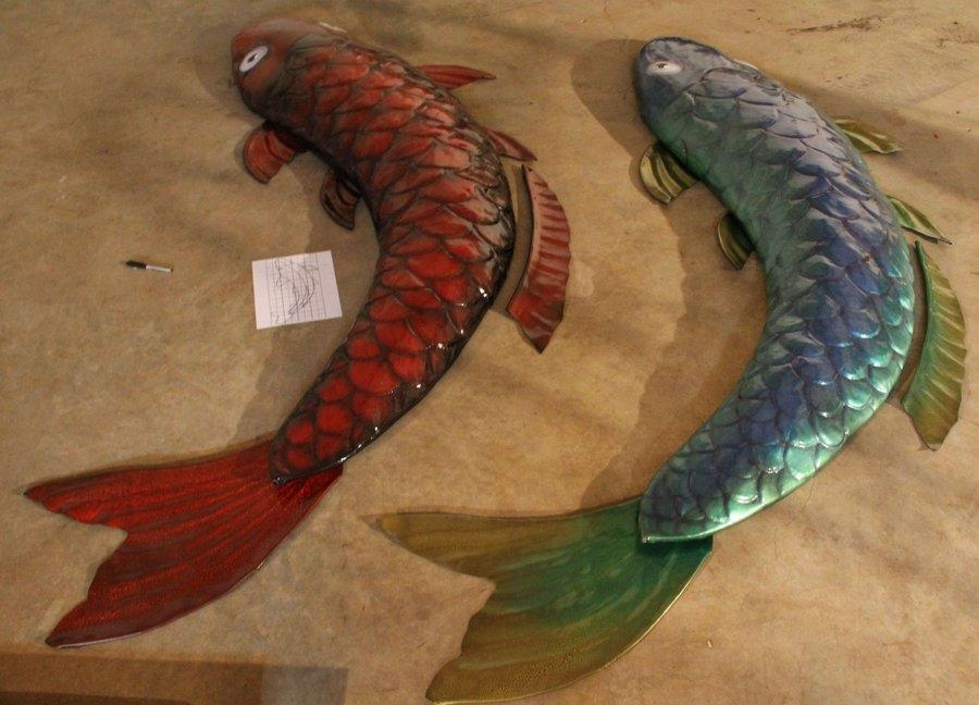 10Ft Koi Fish 3D Leather Wall Artazmal On Deviantart Within Fish 3D Wall Art (View 14 of 20)