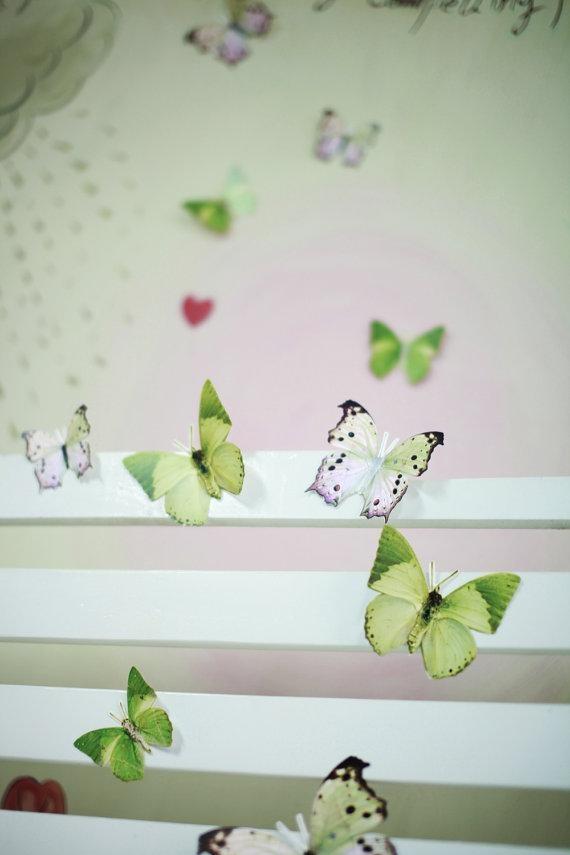 12 3D Wall Butterflies3D Butterfly Wall Art Decoration Pertaining To Baby Nursery 3D Wall Art (Image 1 of 20)