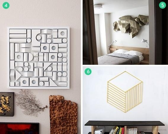 12 Cool 3D Wall Art And Tabletop Decor Projects | Curbly Pertaining To Diy 3D Wall Art Decor (Image 1 of 20)