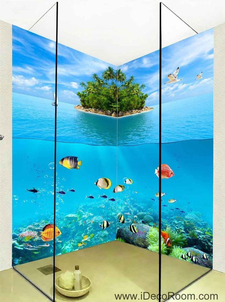 16 Best 3D Bathroom Decor Images On Pinterest | Bathroom Decals Within 3D Wall Art For Bathroom (Image 2 of 20)