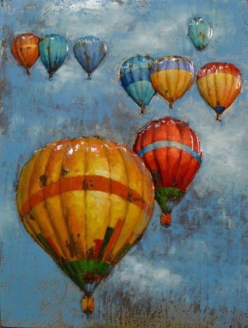 20 Best Steel Wall Art Images On Pinterest | Art Paintings, Steel For Air Balloon 3D Wall Art (Photo 20 of 20)