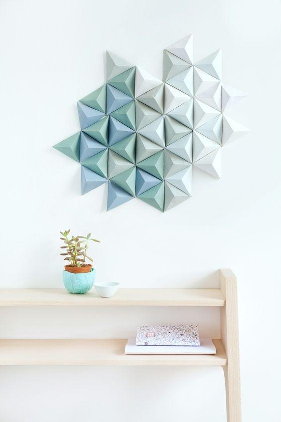 20 Extraordinary Smart Diy Paper Wall Decor [Free Template In Diy 3D Paper Wall Art (Image 2 of 20)