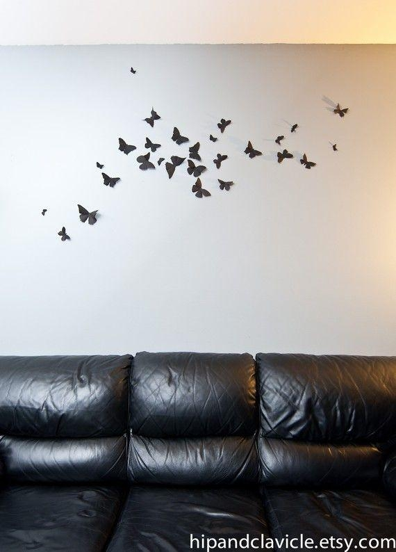 21 Best Butterfly Bedroom Images On Pinterest | Butterfly Bedroom Throughout Umbra 3D Wall Art (Image 2 of 20)