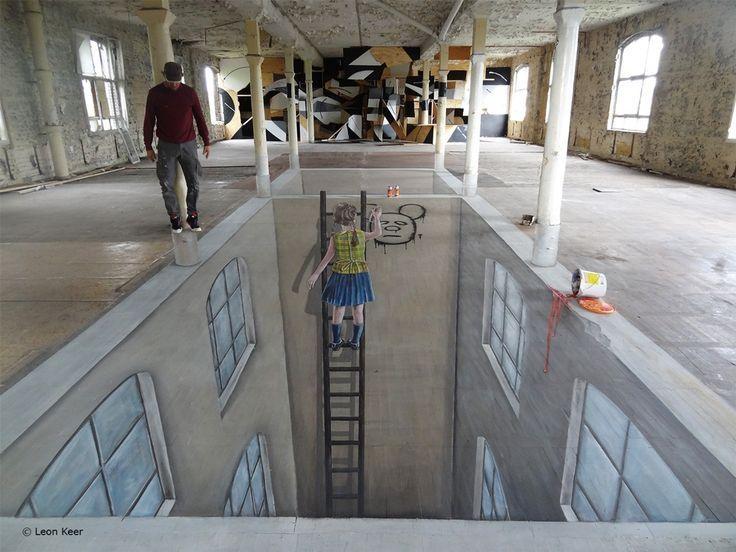 224 Best 3D Art And Street Art Images On Pinterest | 3D Chalk Art Throughout 3D Artwork On Wall (Image 5 of 20)