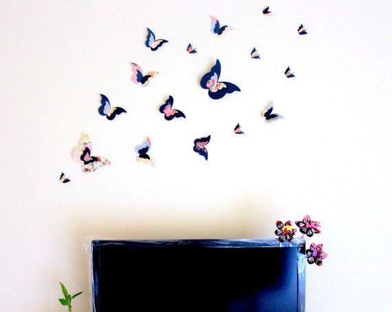 25+ Unique 3D Butterfly Wall Decor Ideas On Pinterest | Butterfly In Baby Nursery 3D Wall Art (Photo 16 of 20)